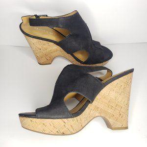 Franco Sarto Glamour Platform Wedge Sandals Size 8